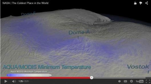 The coldest air on Earth