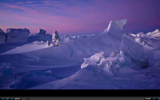 Wind blow ice sculptures