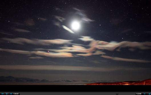 Antarctic Moonscape with clouds
