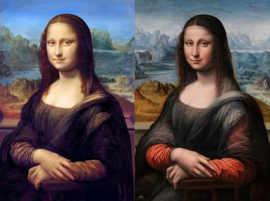 Paris Mona LIsa on the left, Madrid on the right.
