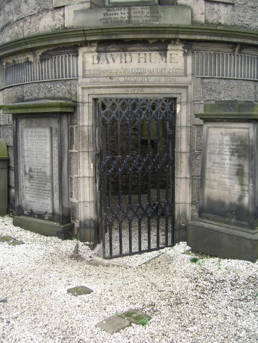 David Hume's tomb, Edinburgh, Scotland