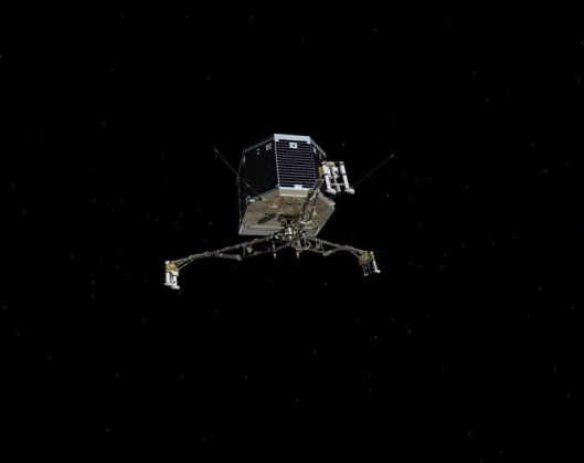 A photo of Philae in space.