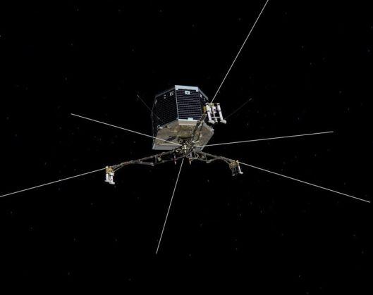Comet lander Philae with struts