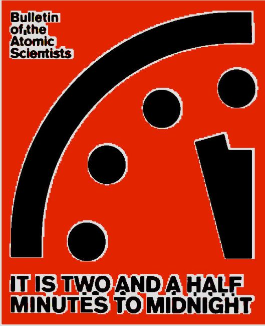 The Doomsday Clock goes RED
