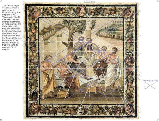 Purpuraires Africa indicated in the 7 Sages of Greece mosaic