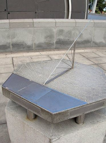 A commemorative sundial at lat/lon 31.2064, 29.9148