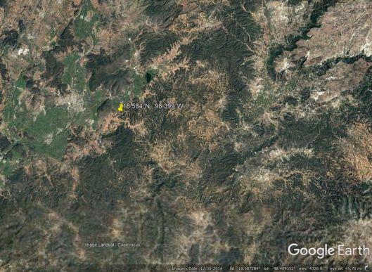 A Google Earth picture of quake area