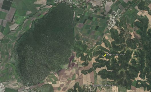 A Google Earth photo of today's earthquake site in Mexico