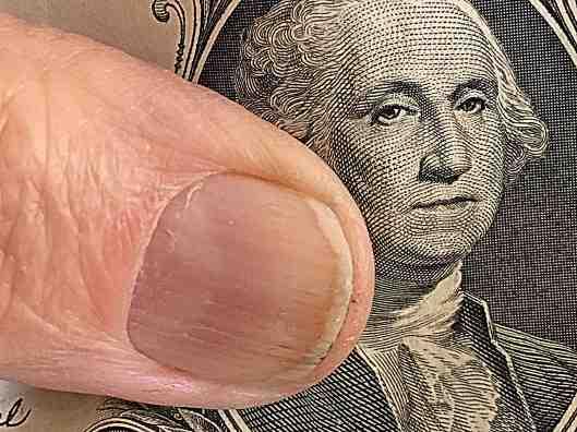 Macro photo of Washington on dollar bill