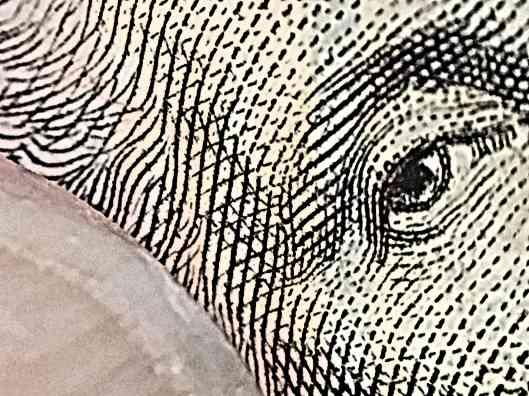 Washington's eye on $1 bill
