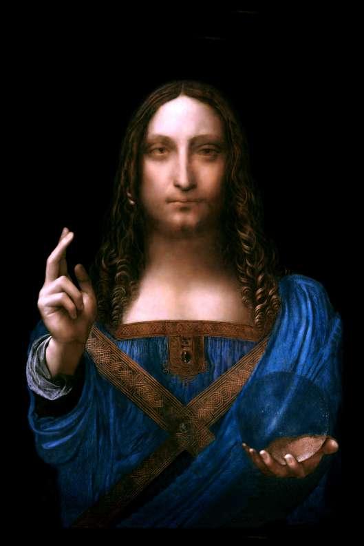 "Leonardo daVinci Salvator Mundi c1500 ""restored"" Charles Scamahorn"
