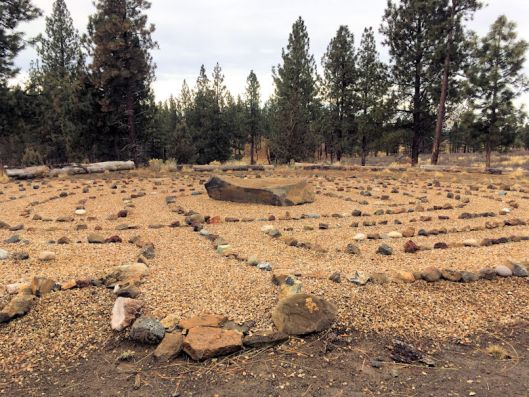 A labyrinth in Bend Oregon