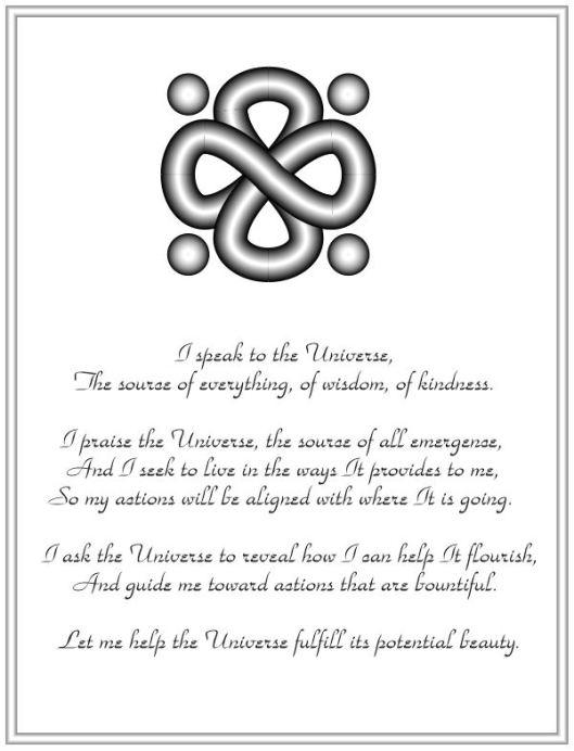 A prayer to the Universe